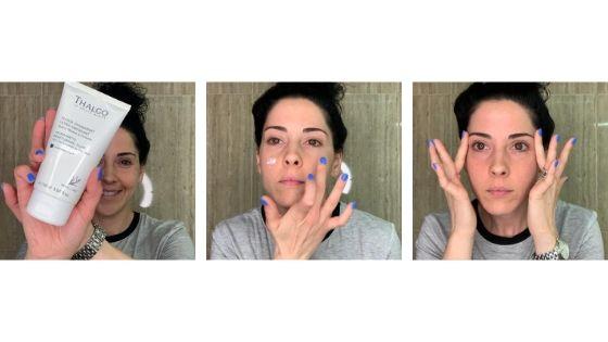 preparar la piel y aplicar crema hidratante