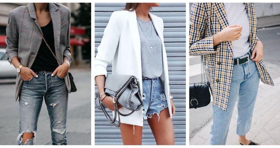 Blazer Pantalones Tobilleros Tendencia Primavera / Verano