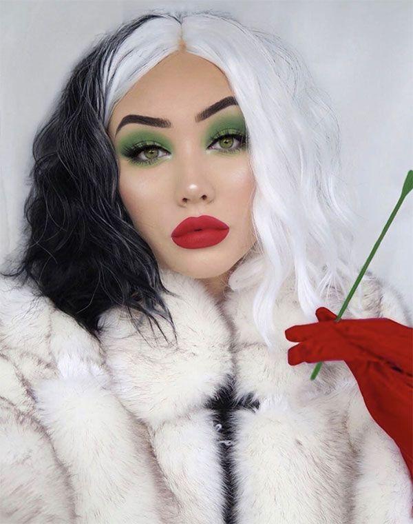 Maquillaje de Cruella de Vill - @ohmygeeee