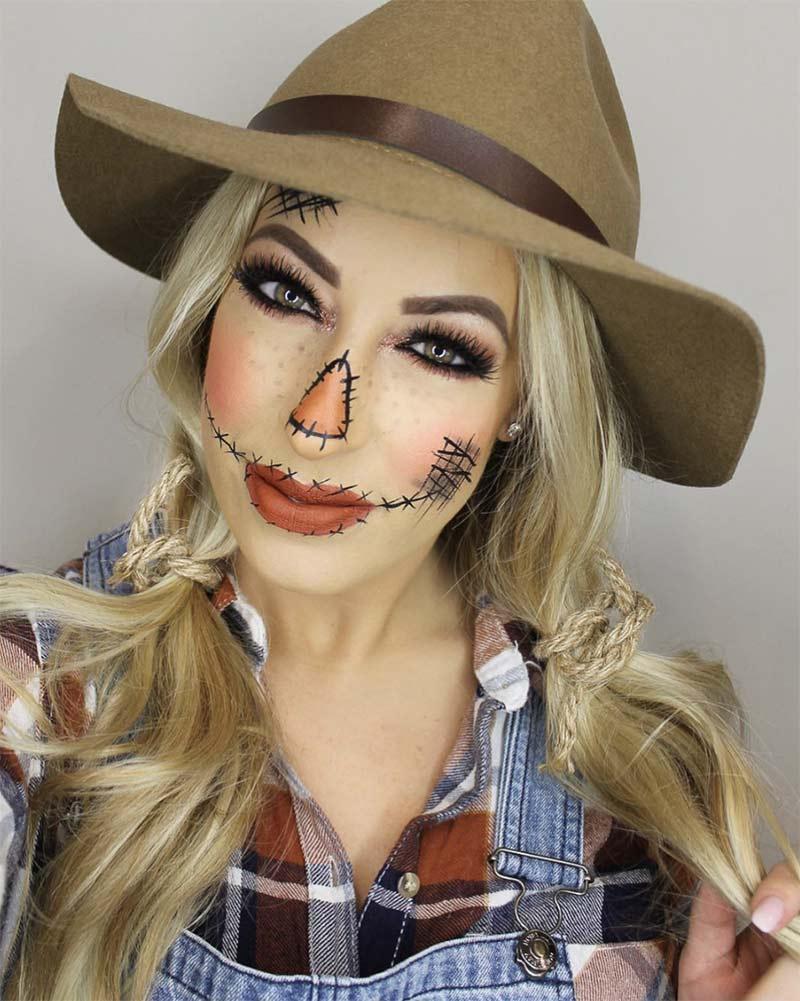 Maquillaje de Espantapájaros - @hair.makeupbyamandazack