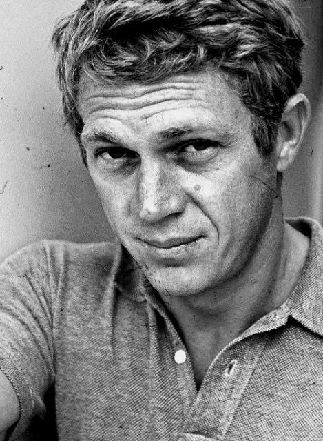 Long crew cut Steve McQueen